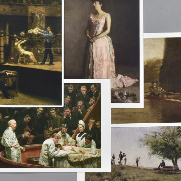Thomas Eakins Museum Postcard Set, close up