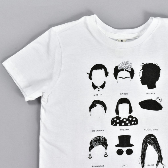 Women Artists Kids T-Shirt, front close up