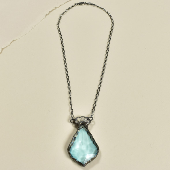 Pale Turquoise Artisan Glass Necklace