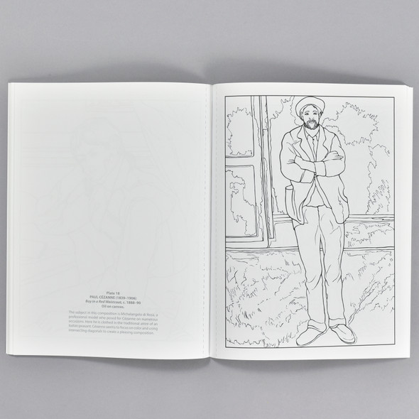 Pages from the book Color Your Own Cezanne Paintings