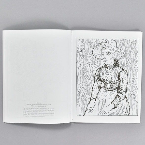 Pages from the book Color Your Own van Gogh Paintings