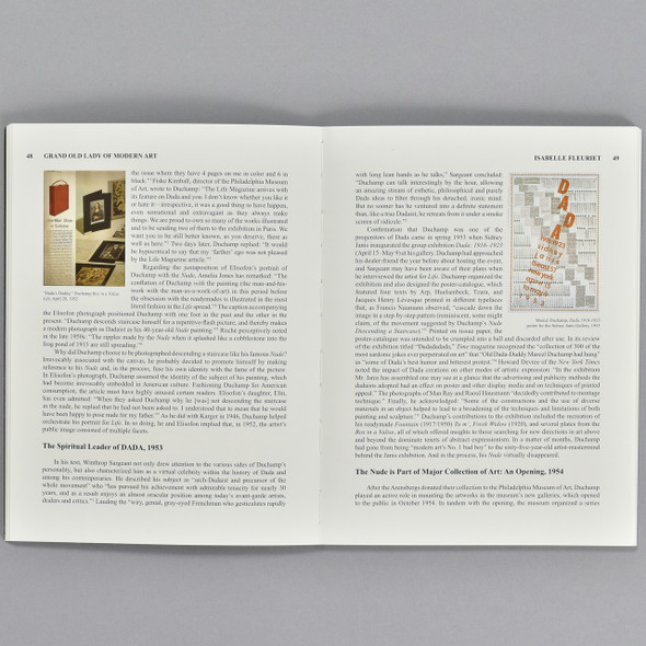 Pages from the book The Grand Old Lady of Modern Art: Marcel Duchamp's Nude Descending a Staircase