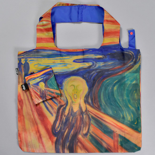 Munch The Scream Folding Tote, with pouch