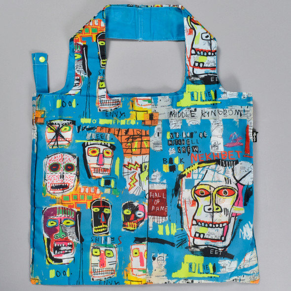 Basquiat Skull Folding Tote