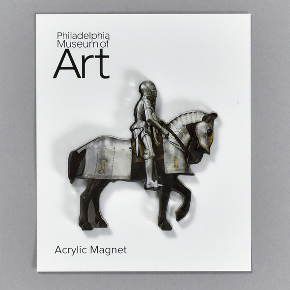Horse and Man Armor Magnet on packaging card