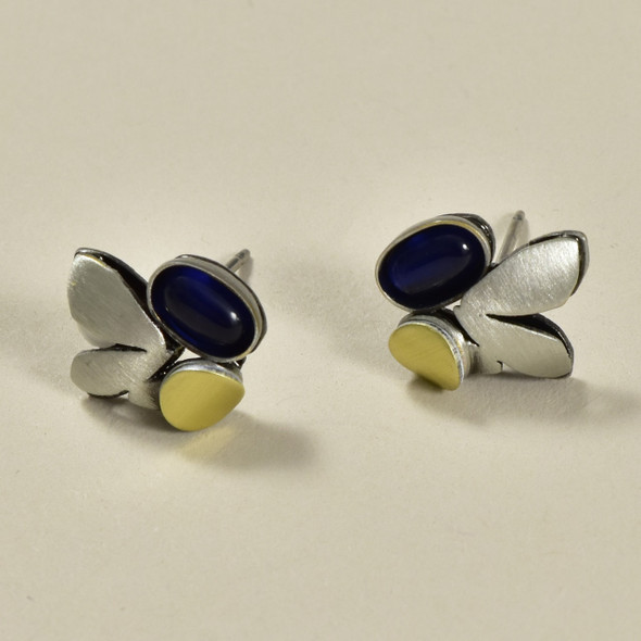 Satin Finish Petals Mini Post Earrings