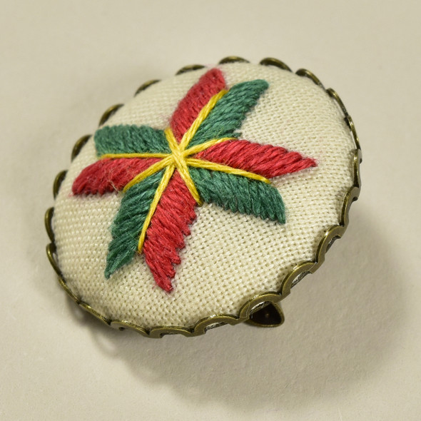 Embroidered Star Pin by Hoop and Wheel