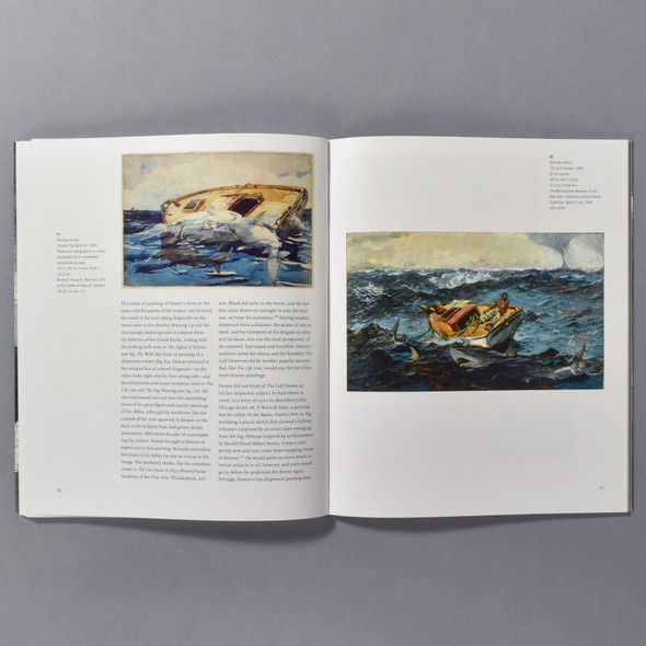 "Interior of the book ""Shipwreck!: Winslow Homer And The Life Line"""
