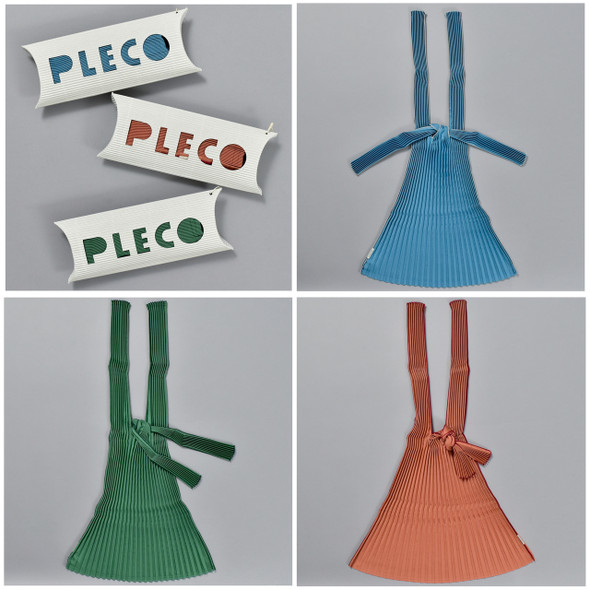 Plant Based Vertical Pleated Totes