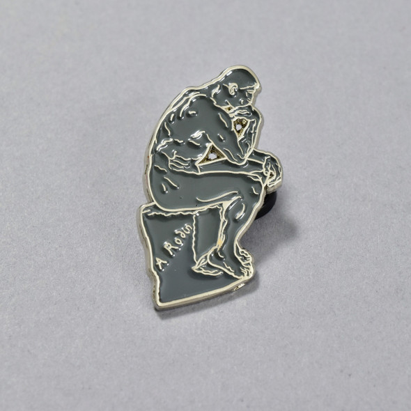 Rodin: The Thinker Enamel Pin