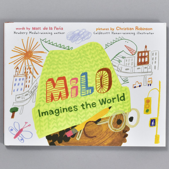 Front cover of the book Milo Imagines the World