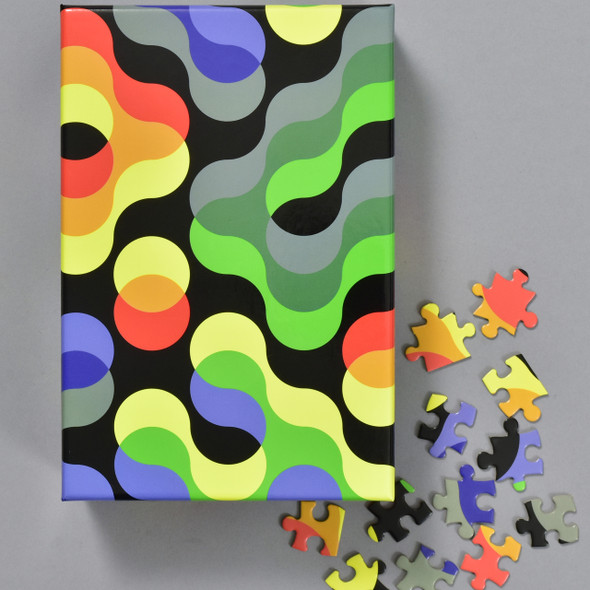 Pattern Puzzle, box with pieces
