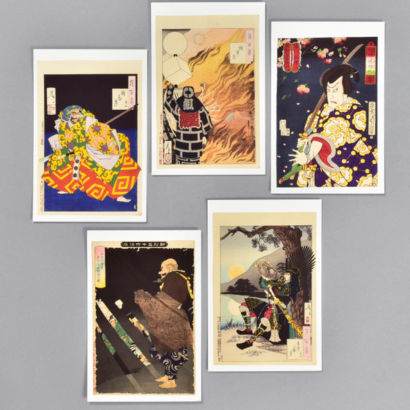 Yoshitoshi Warriors and Actors Museum Postcard Set, fronts of cards