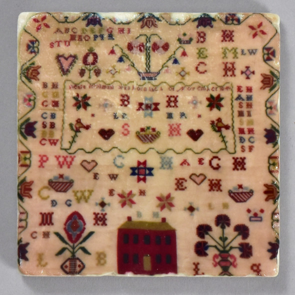 Pennsylvania German Sampler Tile by The Painted Lily