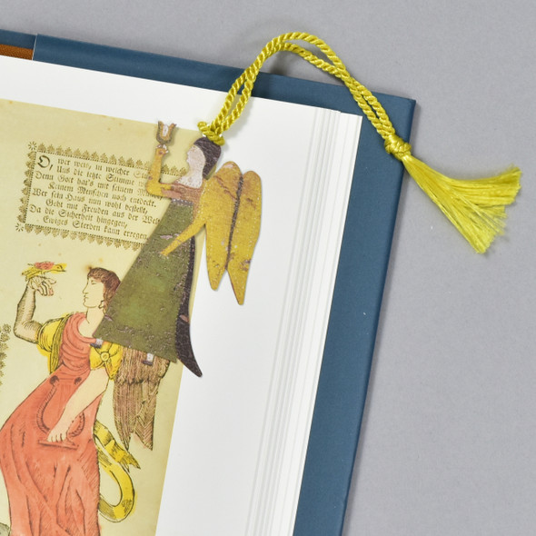 Angel Bookmark, in a book