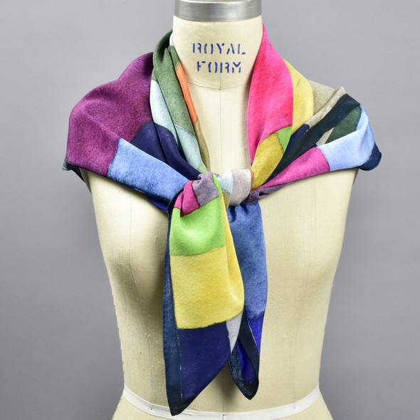 Wallace & Sewell Cosmopolitan Silk Scarf, on mannequin
