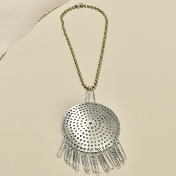 Anni Albers Jewelry: Make Your Own Necklace Kit #2, completed