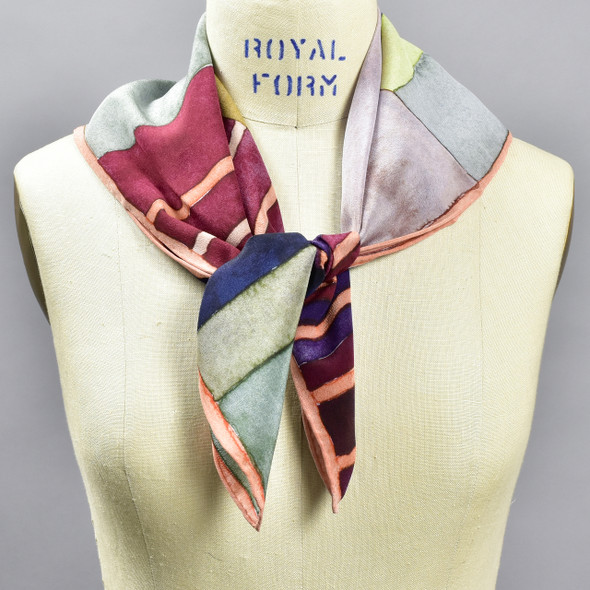 Wallace & Sewell Blocks Silk Scarf, on mannequin