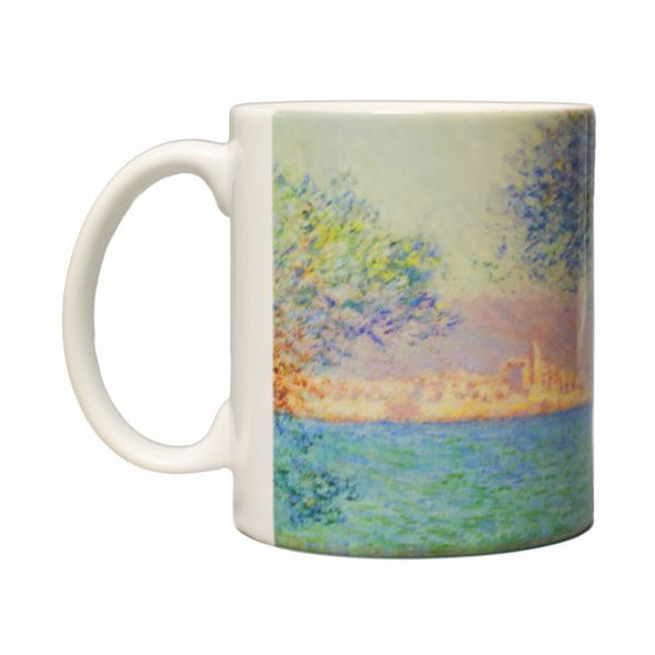 Monet Morning At Antibes Mug, Left Side