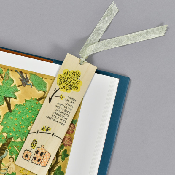 Friends Are Like Leaves Bookmark, in book