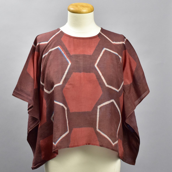 Beeloved Cotton & Silk Block Print Top, on mannequin