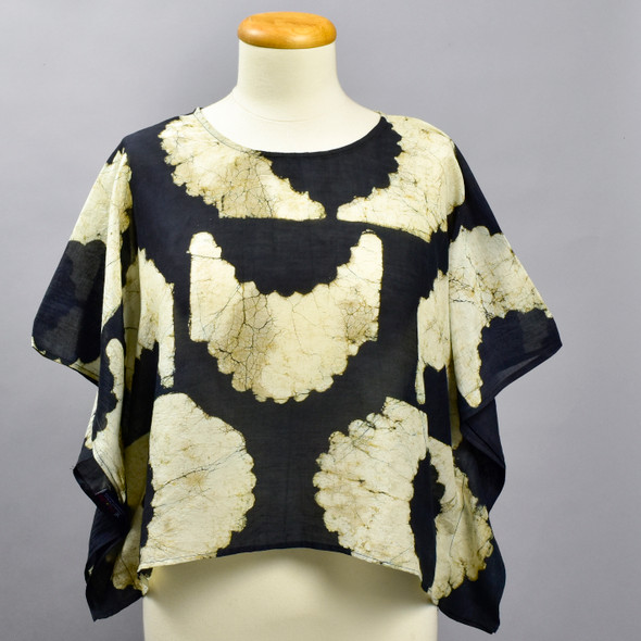 Eclipse Cotton & Silk Block Print Top, on mannequin