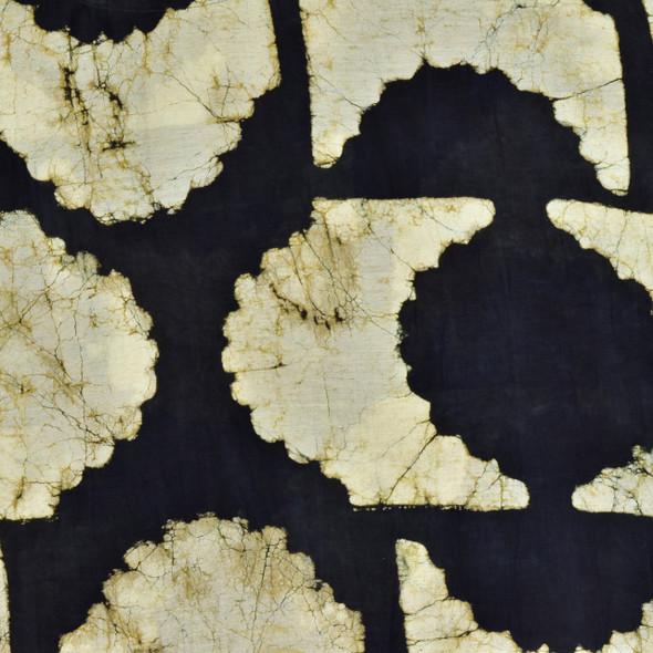 Eclipse Cotton & Silk Block Print Top, close up
