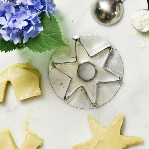 Star Cookie Cutter Reproduction, with baking items