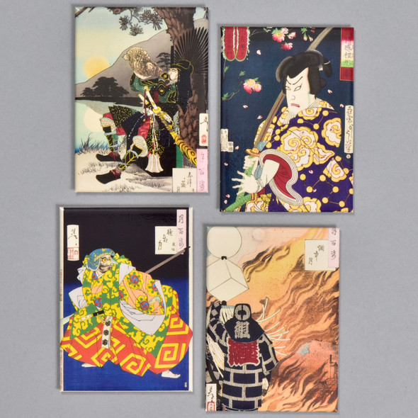 Yoshitoshi: Warriors and Actors Magnet Set, 4 magnets