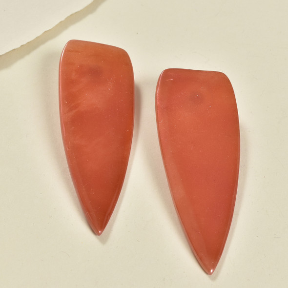 Semi-translucent Red Dagger Earrings by Gracious Rebel