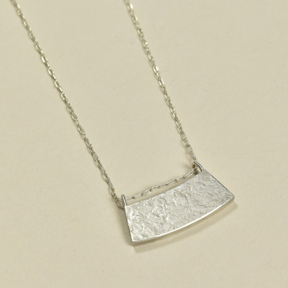 Indra Arc Pendant by Kate Dannenberg, close up