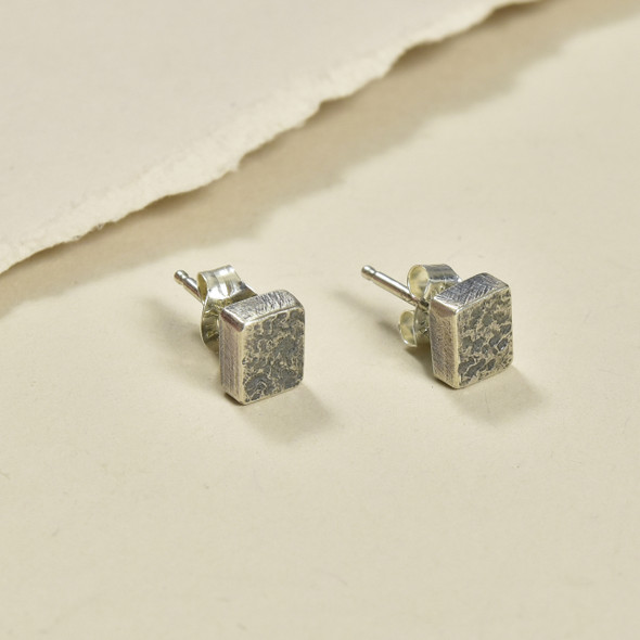 Indra Stud Rectangles by Kate Dannenberg