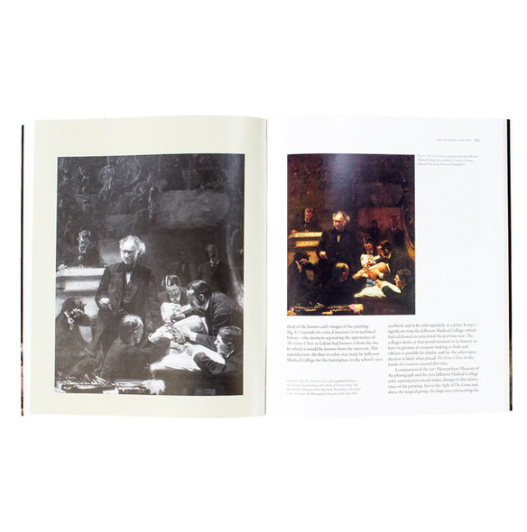 "Interior page of the book ""An Eakins Masterpiece Restored: Seeing The Gross Clinic Anew"""