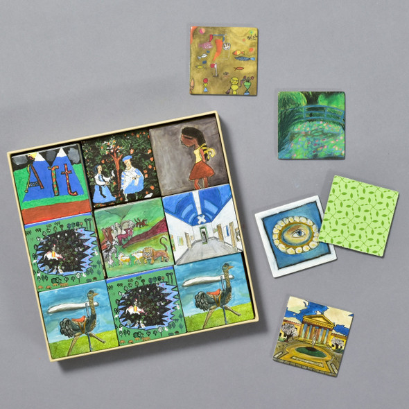 A Is For Art Museum Memory Game contents