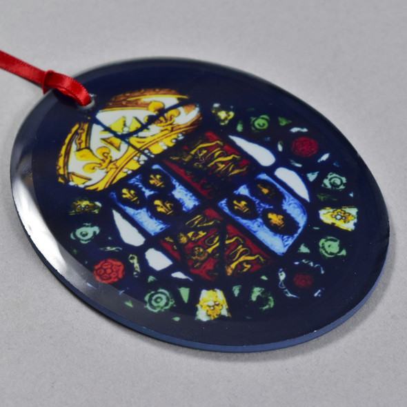 Royal Coat of Arms of England, c 1525 - 1550 Glass Ornament, close up