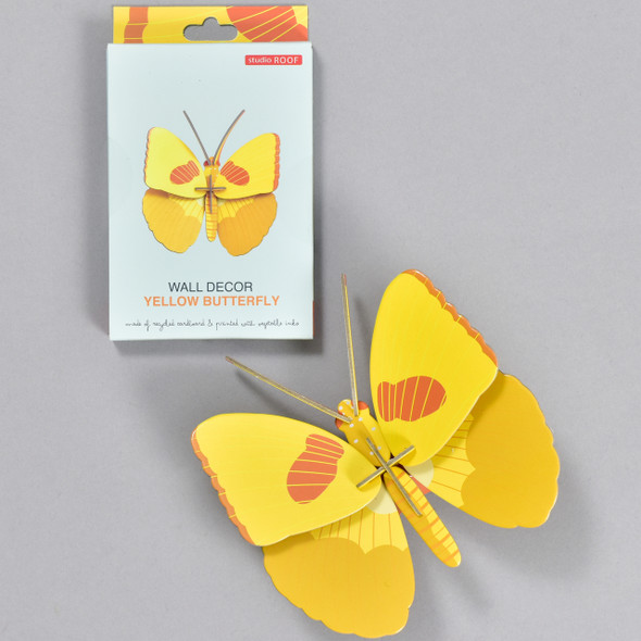 Yellow Butterfly Wall Decor, box and butterfly