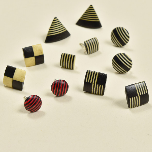Tiny Rare Wood Earrings, multiple styles (sold separately)