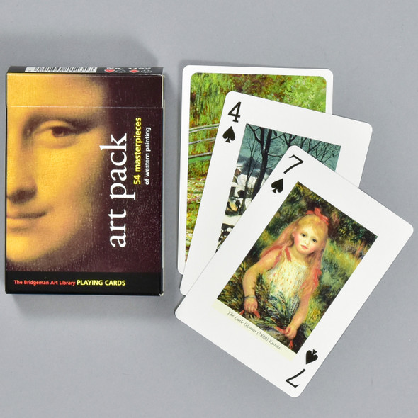 Art Pack Playing Cards, box and cards