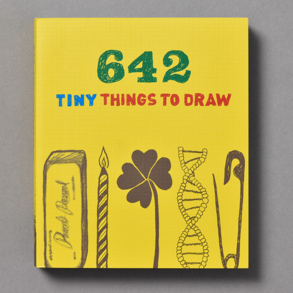 "Front of the book ""642 Tiny Things To Draw"""