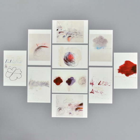 Cy Twombly Fifty Days at Iliam Postcard Set, postcards