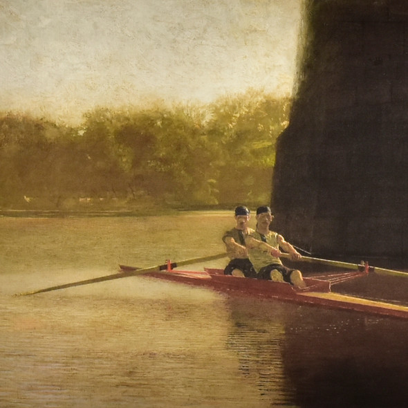 Eakins: The Pair-Oared Shell Archival Poster, detail