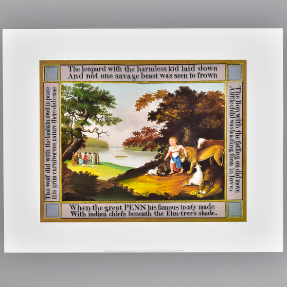 Hicks: The Peaceable Kingdom, 1826 Archival Poster