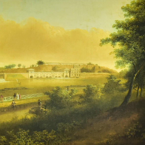 Doughty: View of the Fairmount Waterworks, Philadelphia, from the West Bank of the Schuylkill River Archival Poster, detail