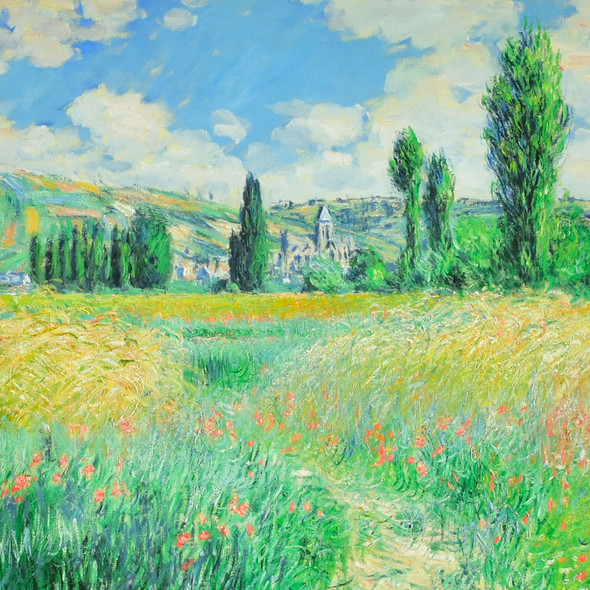 Monet: Path on the Island of Saint Martin Archival Poster, detail
