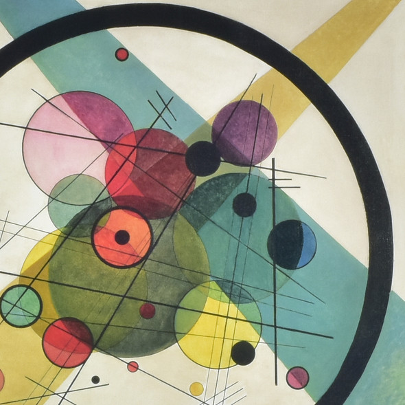 Kandinsky: Circles in a Circle Archival Poster, detail