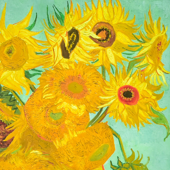 van Gogh Sunflowers, 1888 or 1889 Archival Poster, detail