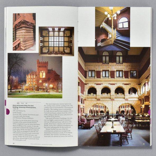 "Interior of book ""Philadelphia Architecture: A Guide To The City"""