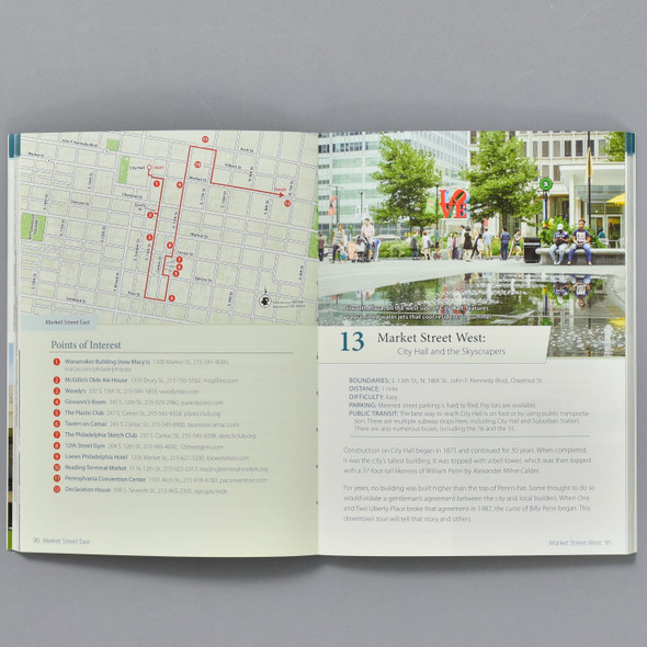 Pages from Walking Philadelphia: 30 Walking Tours Exploring Art, Architecture, History, And Little-Known Gems