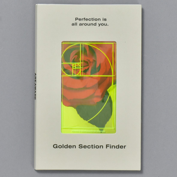 Golden Section Finder - Yellow, front, in packaging