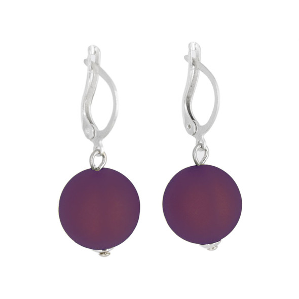 Eggplant Drop Earrings